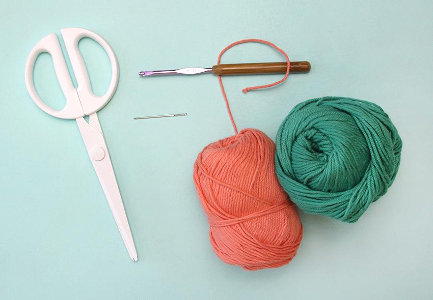 Make a color block washcloth