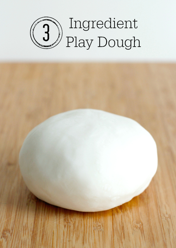 Making 3 Ingredient Play Dough in 5 Minutes