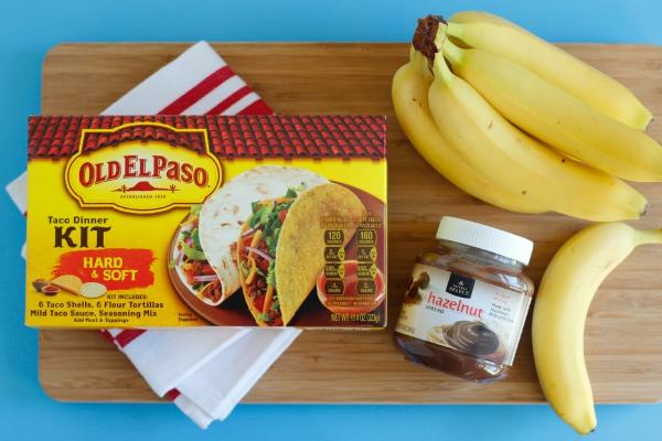 Making Banana Hazelnut Burritos