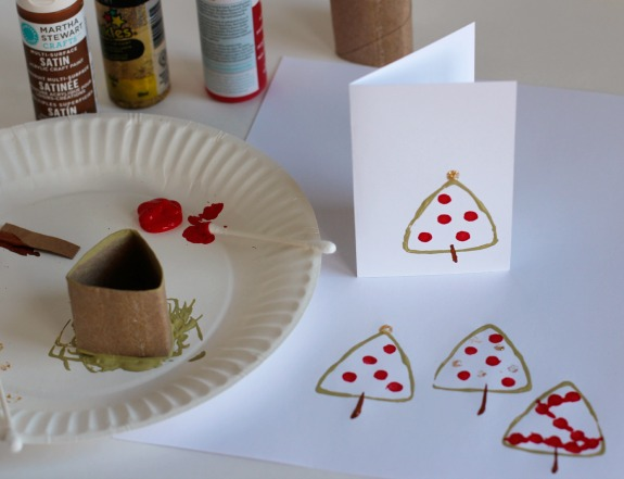 Making Cards with Paper Tube Trees @makeandtakes.com