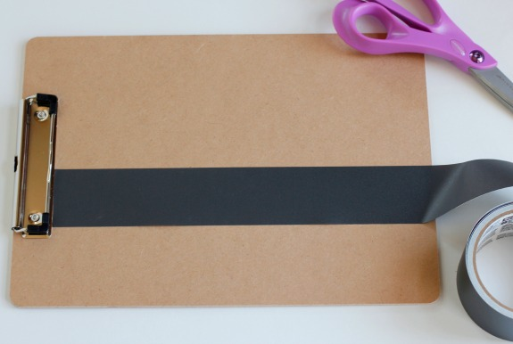 Making Chalkboard Clipboards