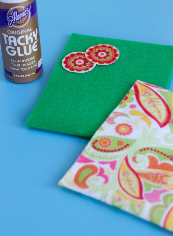 Making Felt Gift Bags for Teacher