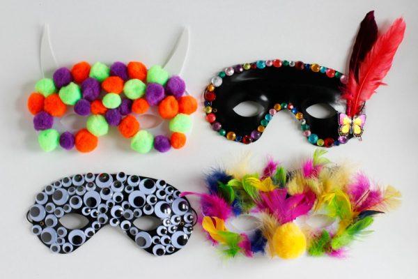 Making Halloween Party Masks Kids Craft