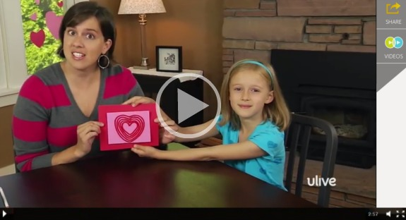 Making Kids Craft Heart Yarn Art @makeandtakes.com