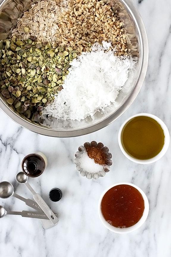 Yogurt Parfaits with Homemade Granola Ingredients