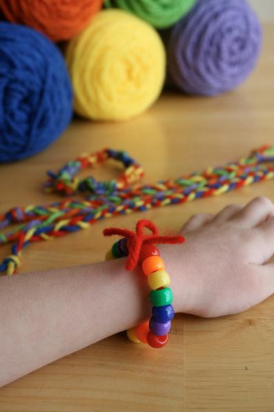 Making Rainbow Friendship Bracelets