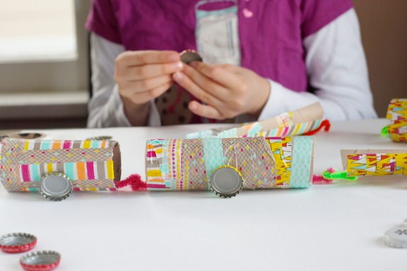 Making Recycled Paper Tube Washi Tape Trains