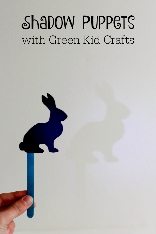 Making Shadow Puppets with Green Kid Crafts