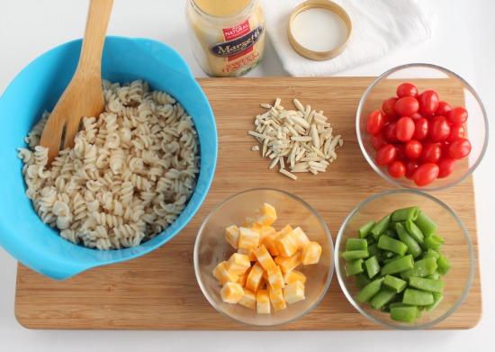 Making Simple Italian Pasta Salad