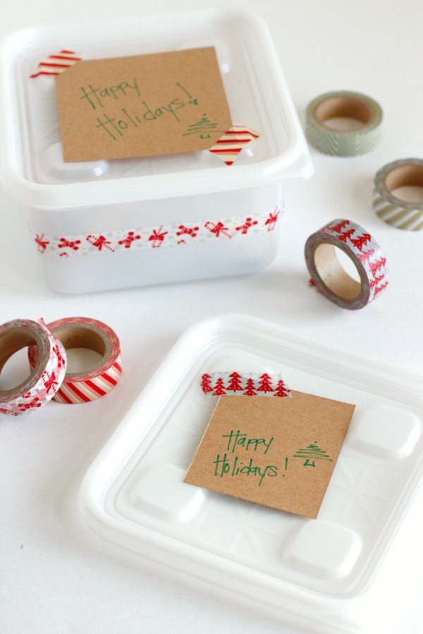 Making Washi Tape Gift Containers for Neighbors
