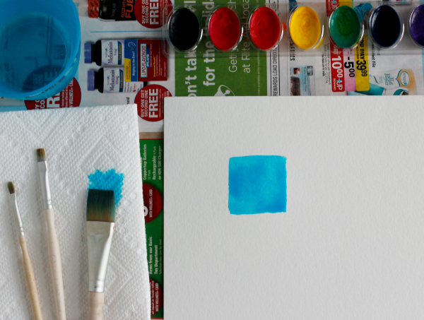 Making Watercolor Block Shapes for Indent Designs