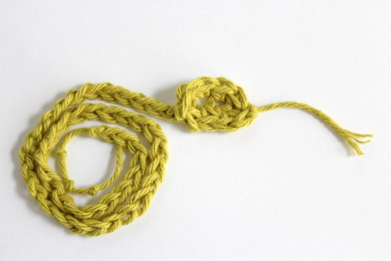Making a Crochet Yarn Snake
