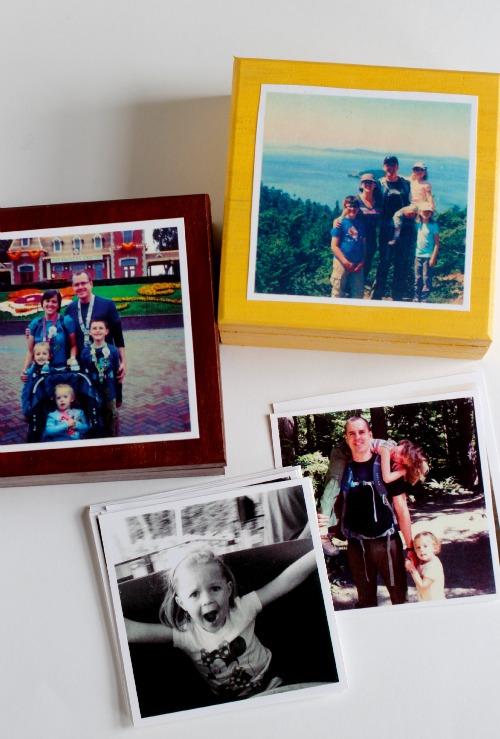Making a DIY Photo Box for Mom