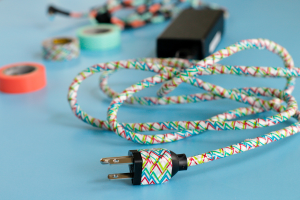Making a DIY Washi Tape Power Cord
