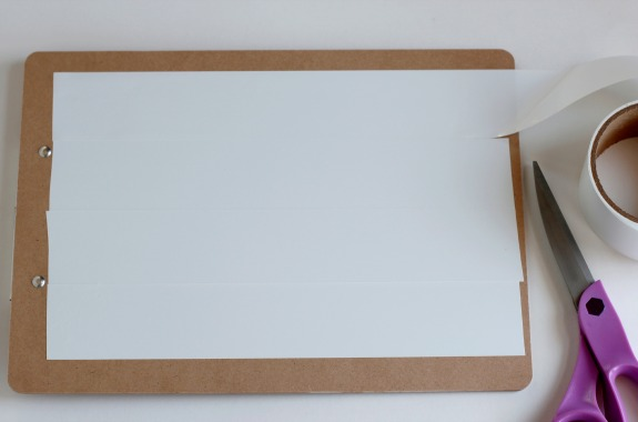 Making a Dry Erase Clipboard