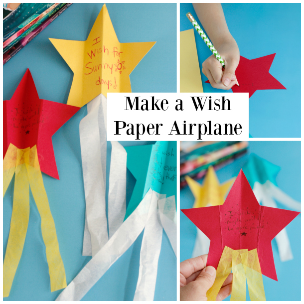 Making a Shooting Star Wish Paper Airplane