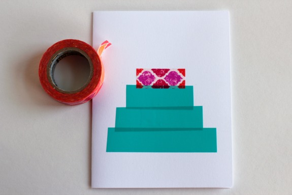 Making a Washi Tape Tree Card