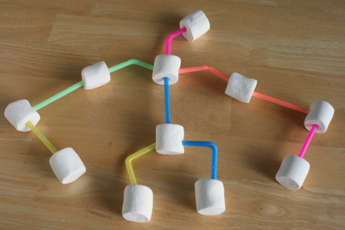 Marshmallow Straw Structures for Kids to Build and Create
