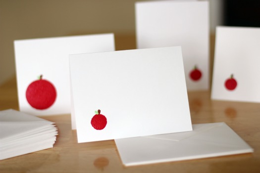 Martha Stewart Plaid painted cards