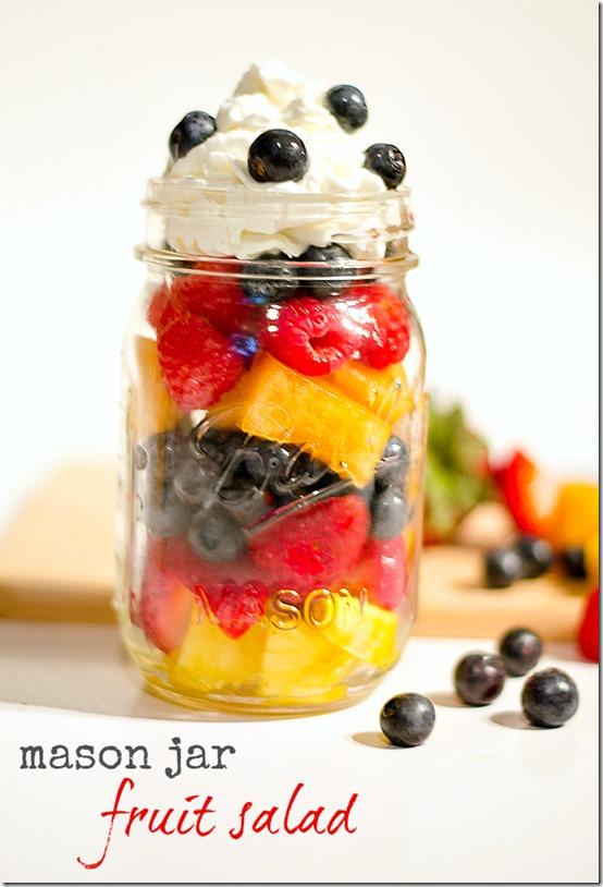 Mason Jar Fruit Salad