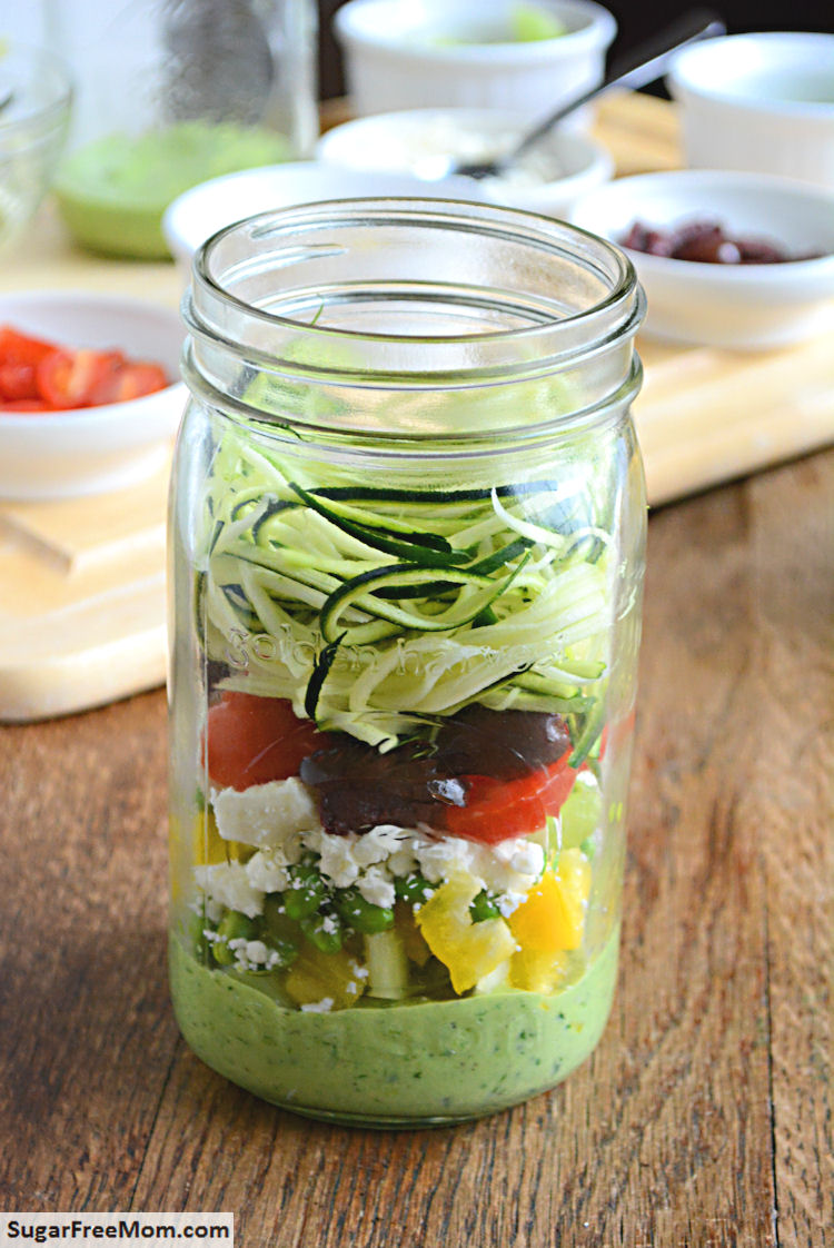 Mason Jar Zucchini Pasta Salad