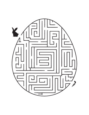Easter Egg Maze Puzzle Coloring Page