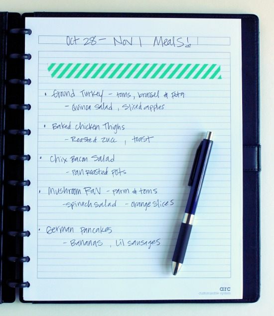 Meal Planning Notebook makeandtakes.com