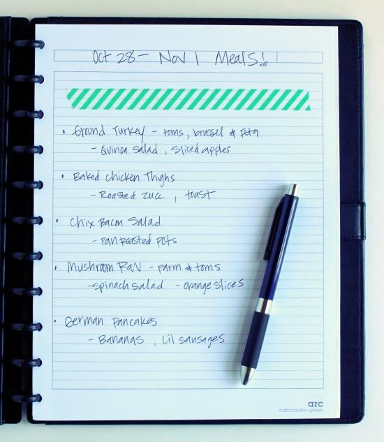 Meal Planning Notebook makeandtakes.com