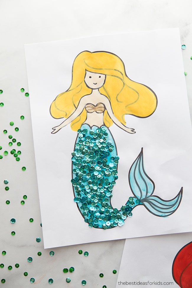 9 Now Ideas Mermaid Crafts For Kids Make And Takes