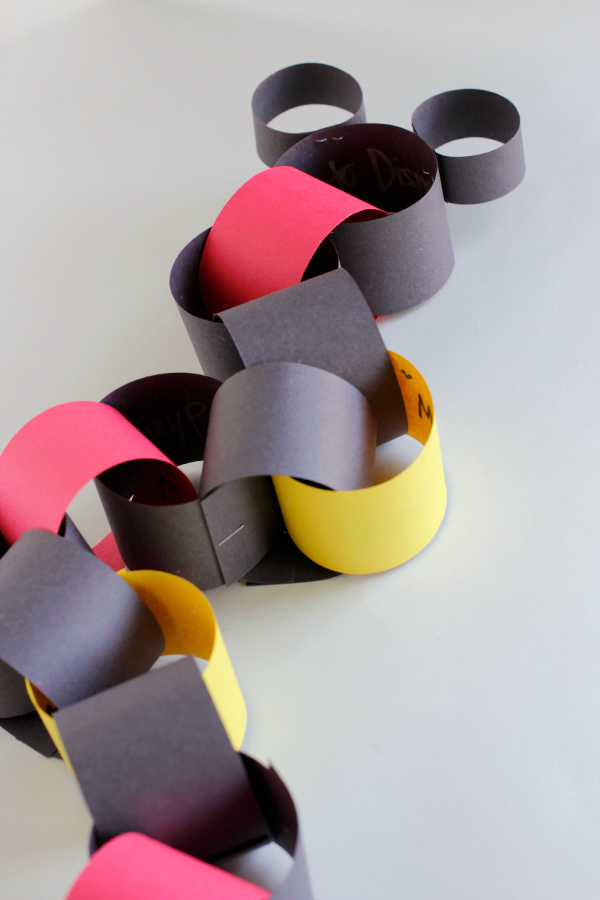 Mickey Mouse Disney World Paper Chain Countdown