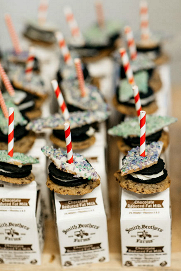 Milk and Cookies Bar Party Idea