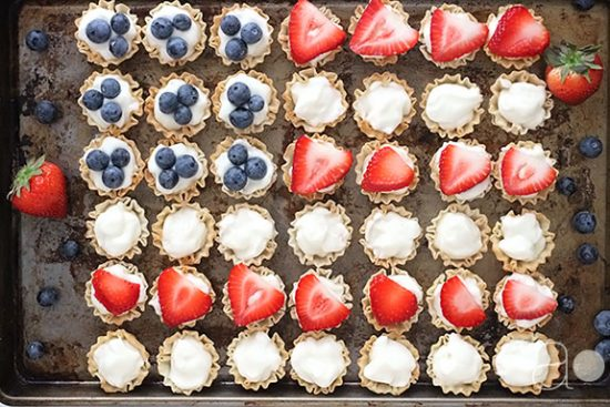 Mini Flag Berry Tarts