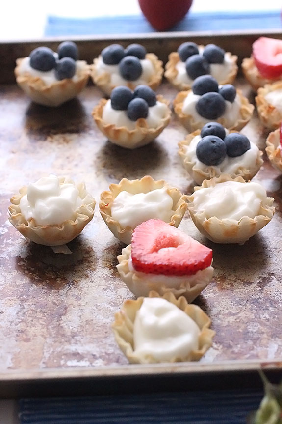 Mini Berry American Flag Tarts for the 4th of July