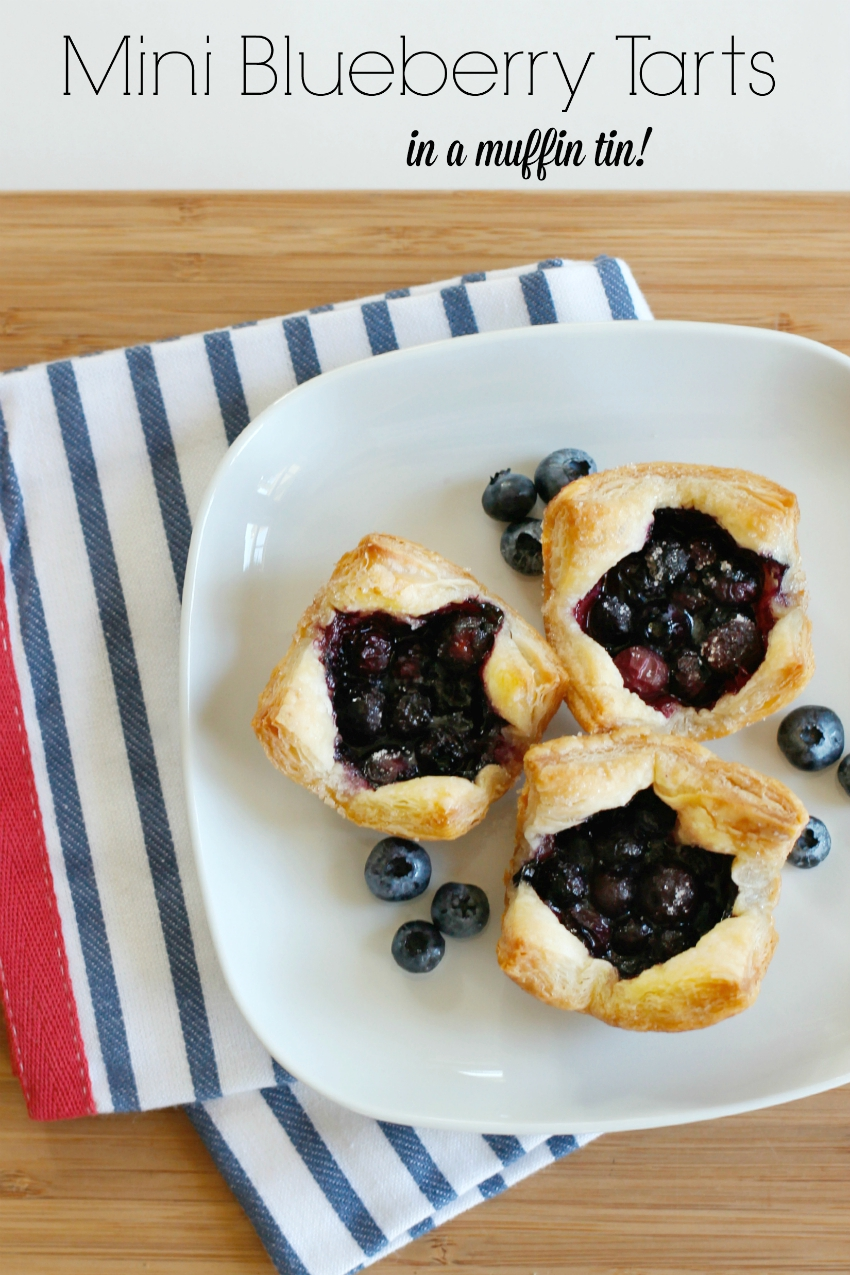 Mini Blueberry Tarts in a Muffin Tin