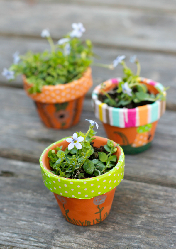 Mini Flower Pots For A Fairy Garden