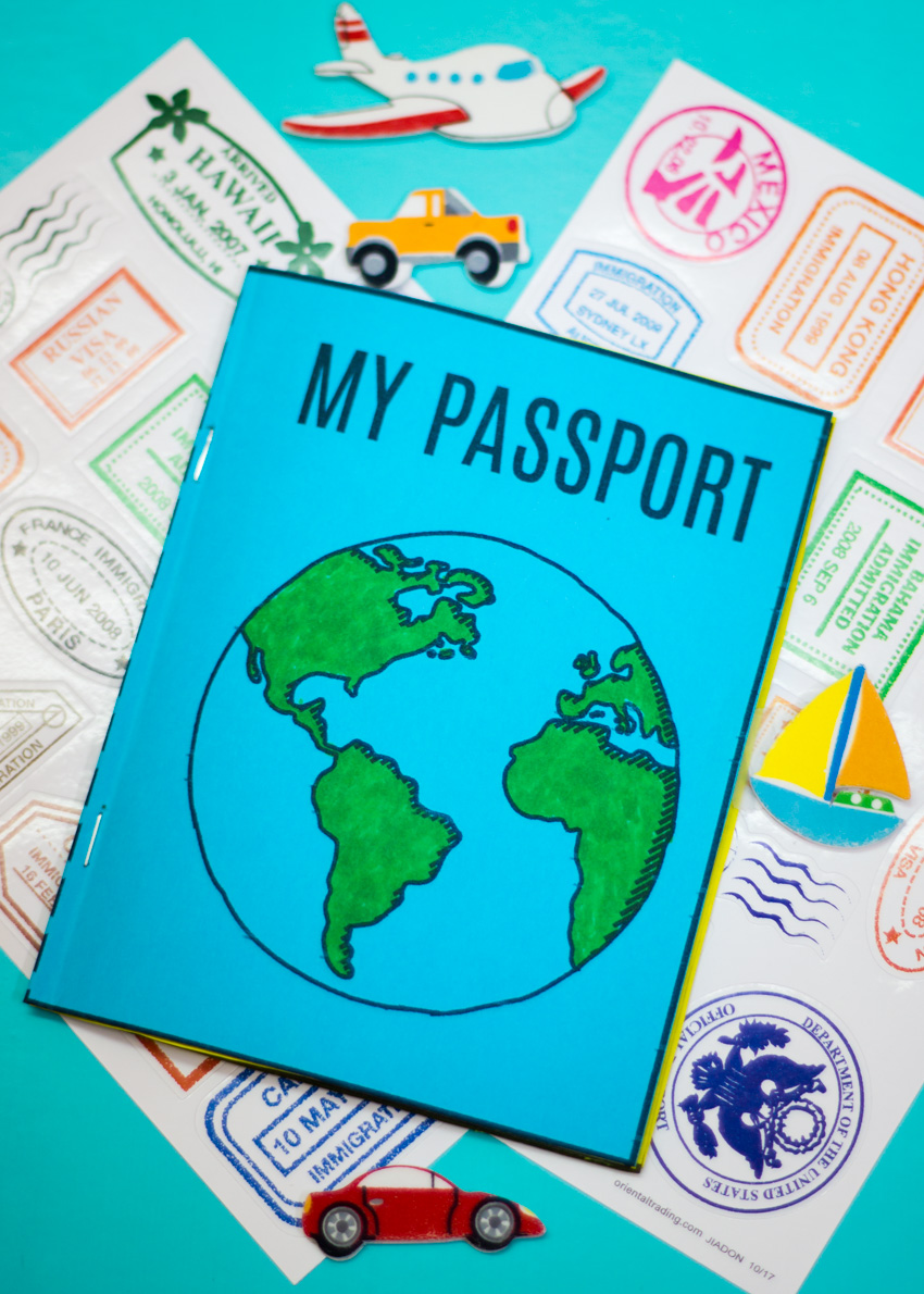 Diy Mini Passport Book Free Printable Make And Takes