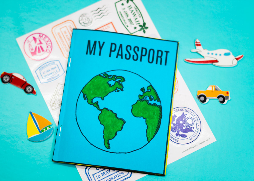 photo regarding Printable Passport for Kids called Do it yourself Mini Pport Reserve + Free of charge Printable Create and Can take