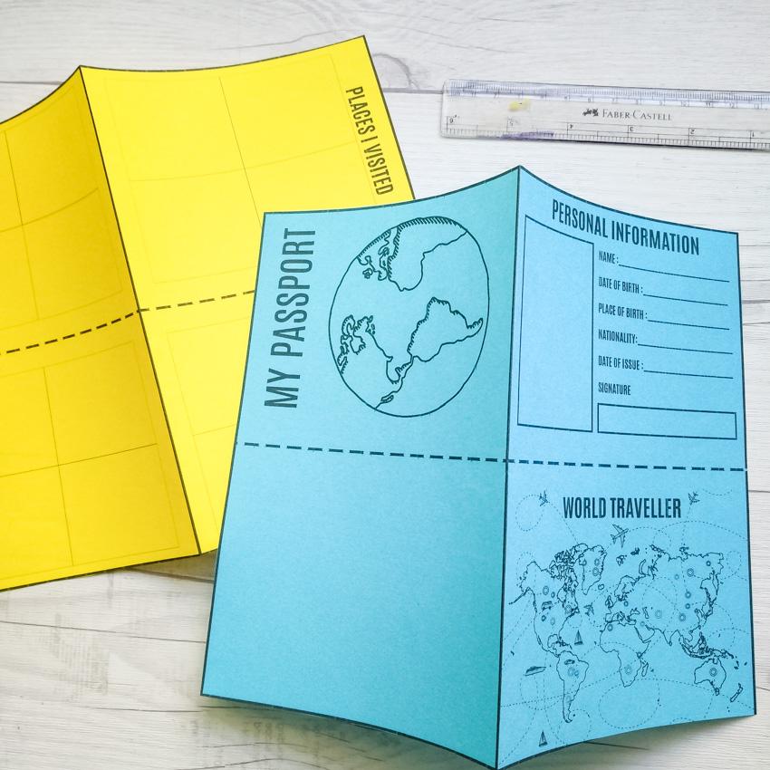 Diy Mini Passport Book Free Printable
