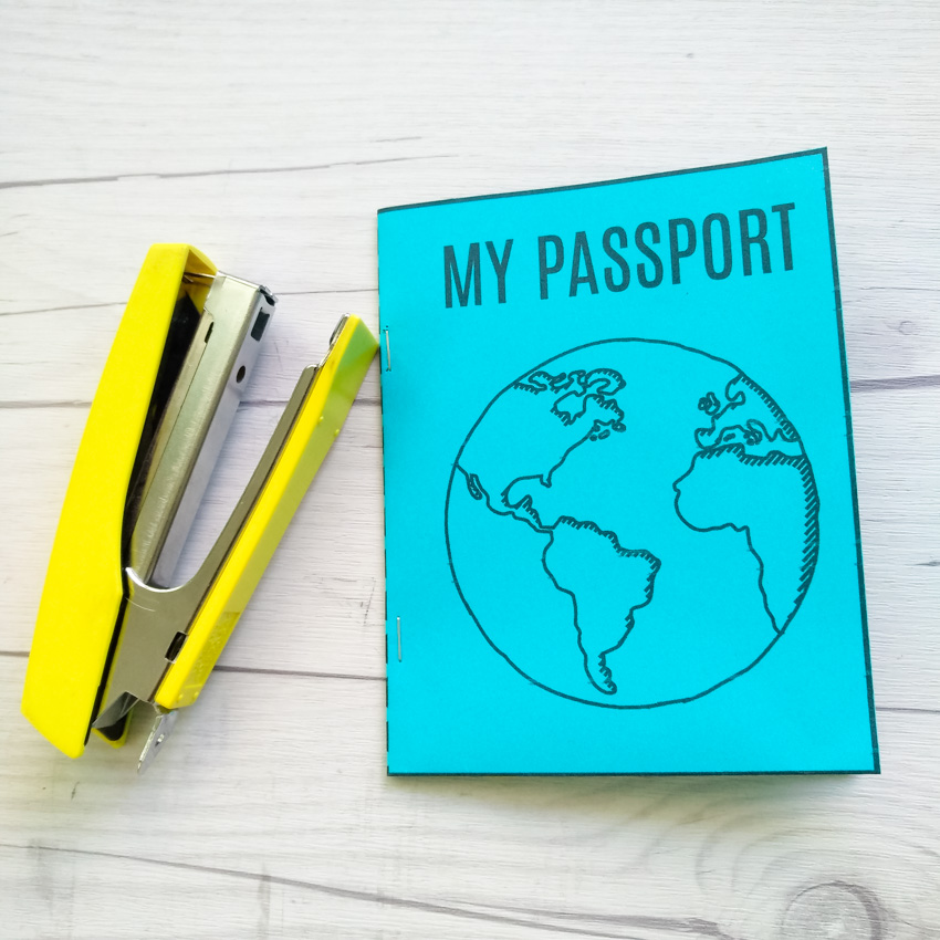 photograph relating to Printable Passport Stamps for Kids named Do-it-yourself Mini Pport E-book + Free of charge Printable Generate and Normally takes