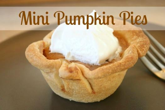 Mini Pumpkin Pies in a Muffin Tin makeandtakes.com