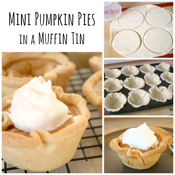Mini Pumpkin Pies in a Muffin Tin