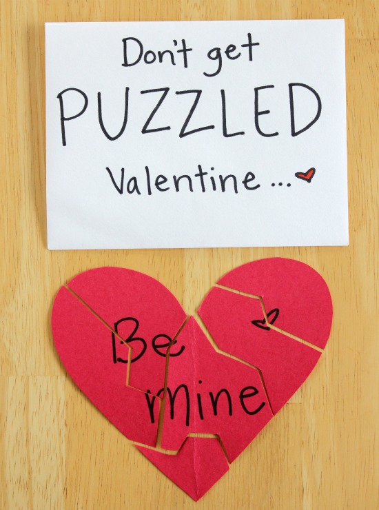 Dont Get Puzzled Valentine – Mini Valentine Cards