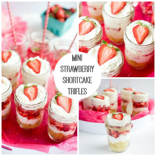Mini Strawberry Shortcake Trifles