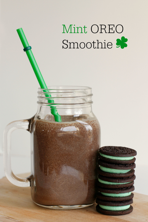 Mint Oreo Smoothies for St. Patrick's Day