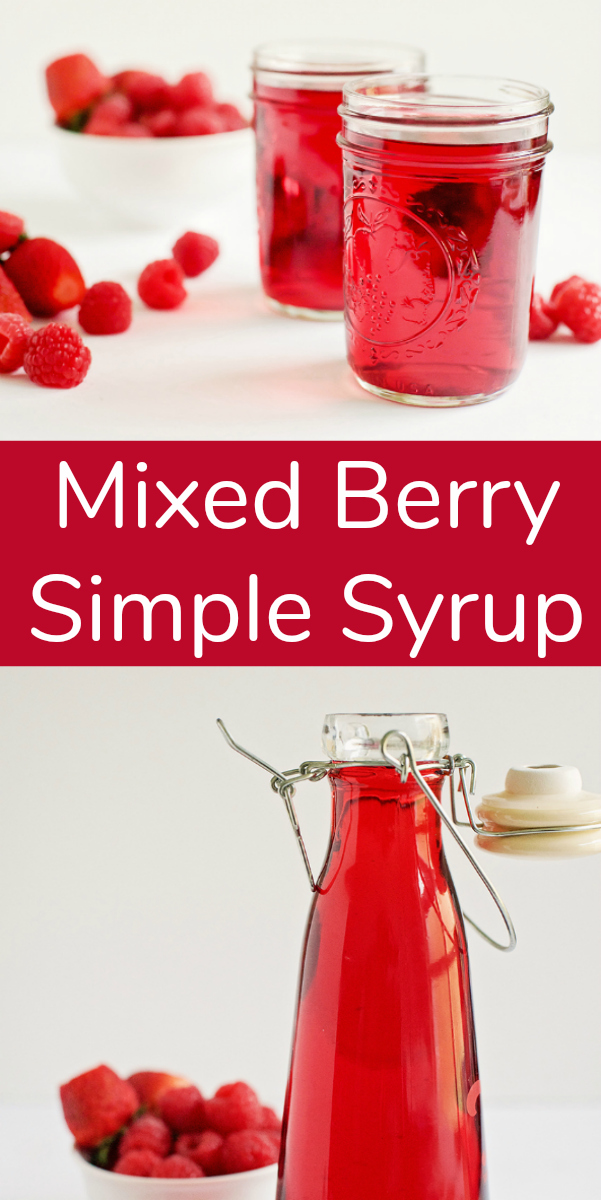 Mixed Berry Simple Syrup for Summer Drinks