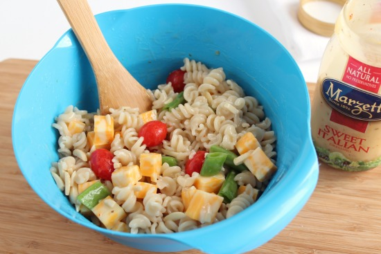 Mixing up Summer Pasta Salad