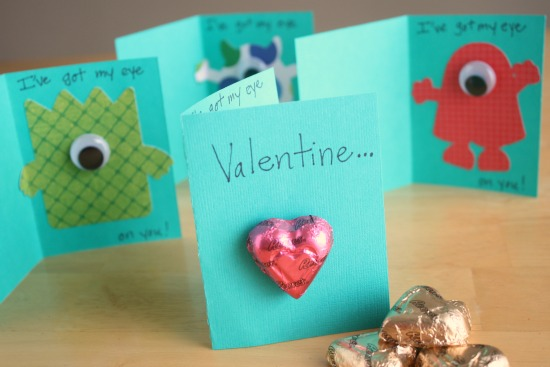 Monster Valentines Cards for the Classroom – Valentine Cards for Preschoolers to Make