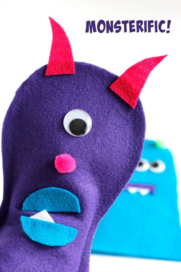 Monsterific Felt Puppet Craft