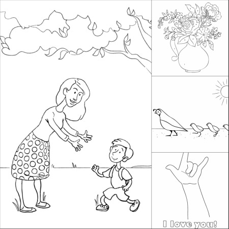 3 father 1 mother coloring pages   Fun Printable Mother's Day Coloring Pages   Make and Takes