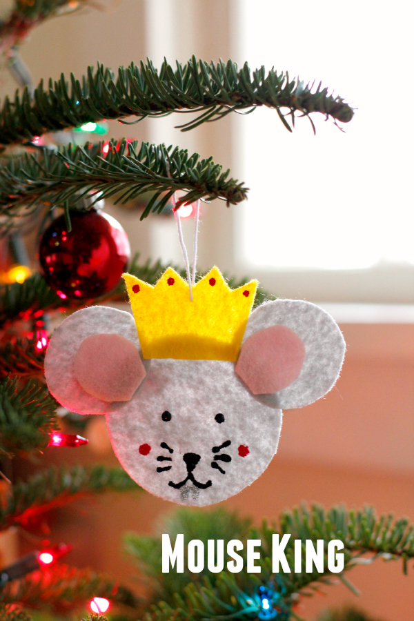 Mouse King Nutcracker Ornament on the Christmas Tree